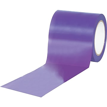 "Tape Logic™ 4"" x 36 yds. Solid Vinyl Safety Tape, Purple, 3/Pack"