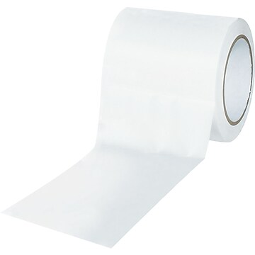 "Tape Logic™ 4"" x 36 yds. Solid Vinyl Safety Tape, White, 3/Pack"