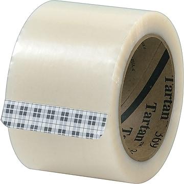 """3M Tartan #369 Hot Melt Packing Tape, 3""""x110 yds., Clear, 24/CS,Size: med"""