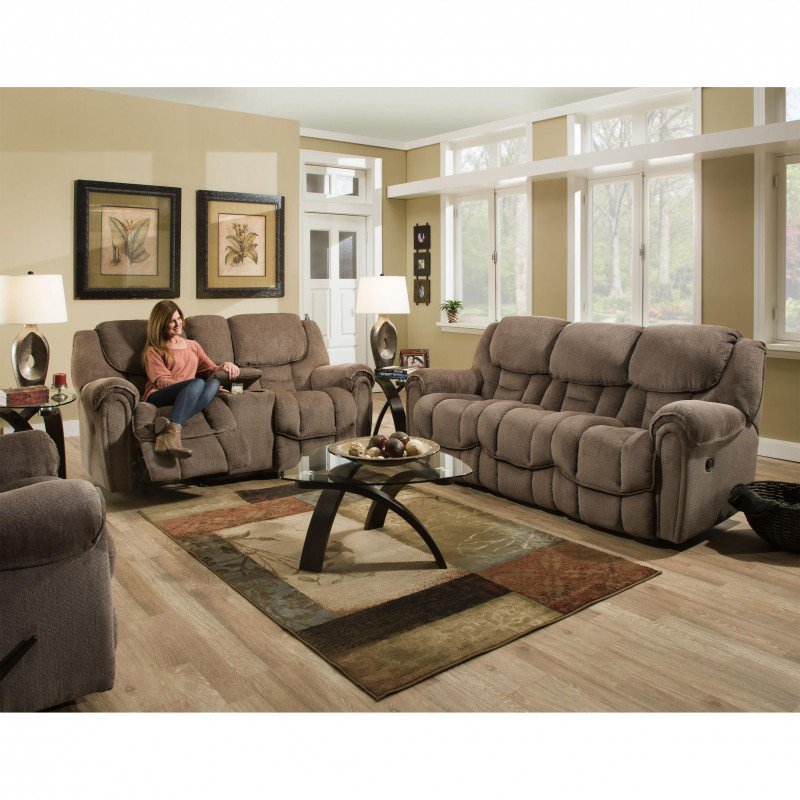 Homestretch Del Mar 3 Piece Reclining Living Room Set In Taupe