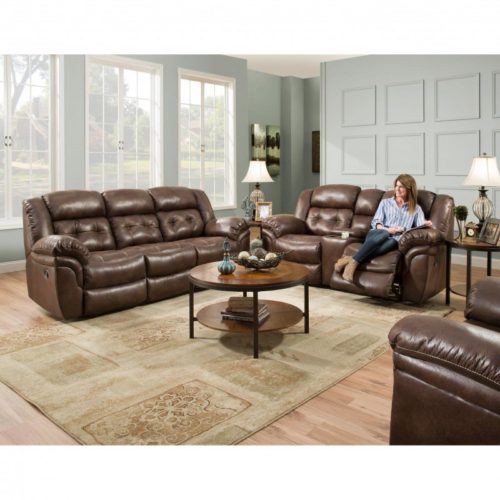 HomeStretch Frontier 3 Piece Living Room Set in Espresso