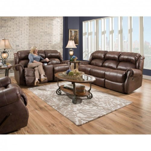 HomeStretch Wyoming 3 Piece Power Living Room Set