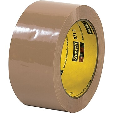 "Scotch 371 Hot Melt Packing Tape, 2"" x 110 Yds., Green, 36/Carton (70006079332)"
