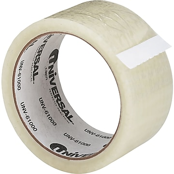 "Universal General Purpose Hot Melt Packing Tape, 2"" x 55 Yds., Clear, Roll (UNV61000)"