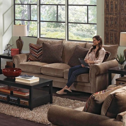 Jackson Anniston Loveseat in Saddle