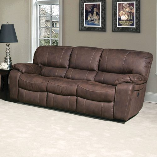 Parker Living Comfort Jupiter Dual Reclining Sofa in Dark Kahlua
