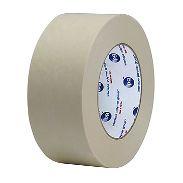 """Intertape 2 1/2"""" x 600' Convoy Medium Duty Gum Side In Paper Tape, White, 12 Roll"""