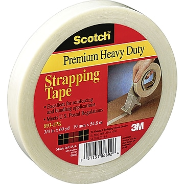 """Scotch #893 General Performance Filament Tape, 1"""" x 60 yds., 36/Case"""