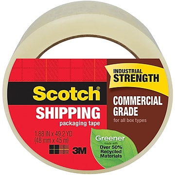"""""""Scotch Greener Shipping Packing Tape, 1.88""""""""W x 49.2 Yards, Clear (3750G)"""""""