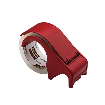 """Scotch Packing Tape Hand Dispenser, 3""""W Core, Red (DP-300-RD)"""
